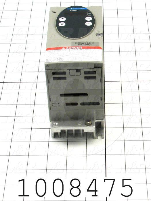 AC Drive, Altivar31 Series, 0.37KW (1/2HP), 208-230VAC, 1 Phase