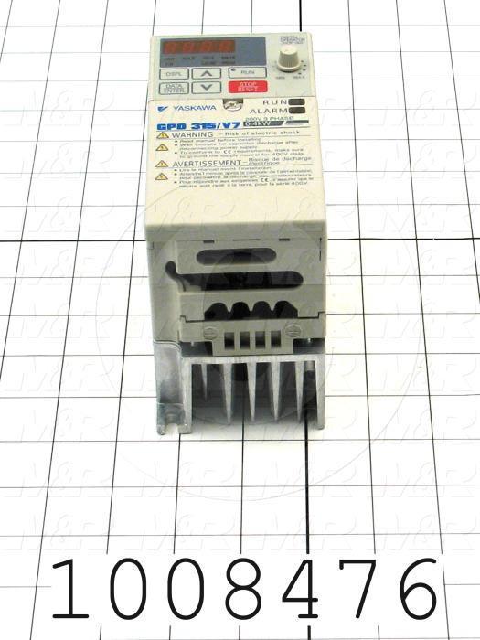 AC Drive, CIMR-V7 Series, 0.37KW (1/2HP), 240VAC, 3 Phase