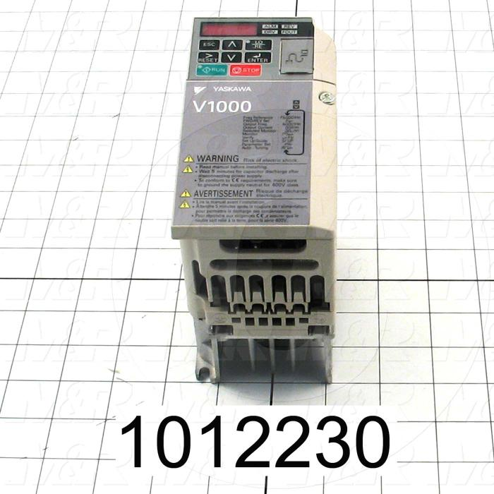 AC Drive, V1000 Series, 0.37KW (1/2HP), 220VAC, 1 Phase