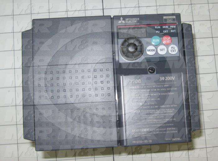 AC Drive, VFD, D700 Series, 5HP, 200-240VAC, 3 Phase, 50/60Hz, 3 Phase