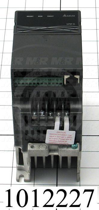 AC Drive, VFD-E Series, 0.37KW (1/2HP), 208-230VAC, 1 Phase, 230VAC Output