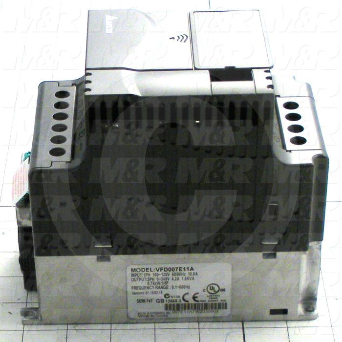 AC Drive, VFD-E Series, 0.75KW (1HP), 110VAC, 1 Phase, 230VAC Output, 3 Phase