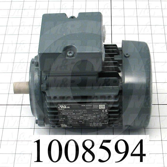 AC Motor, 0.6HP, 230/460VAC, 3 Phase