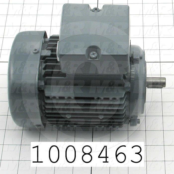 AC Motor, 1/2HP, 1750 RPM, 208-230/460VAC, 60Hz