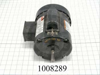 AC Motor, 1/2HP, 56 Frame, 1725 RPM, 115/208-230VAC, 1 Phase, 60Hz