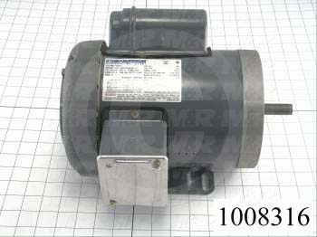 AC Motor, 1/2HP, 56C Frame, 110/220VAC, 1 Phase, 50Hz