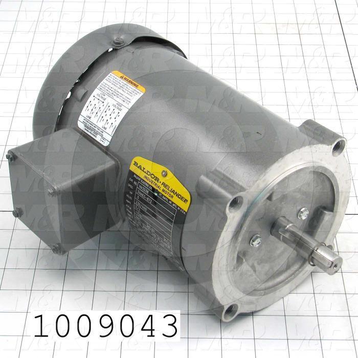 AC Motor, 1/2HP, 56C Frame, 1725 RPM, 230/460VAC, 3 Phase, 60Hz