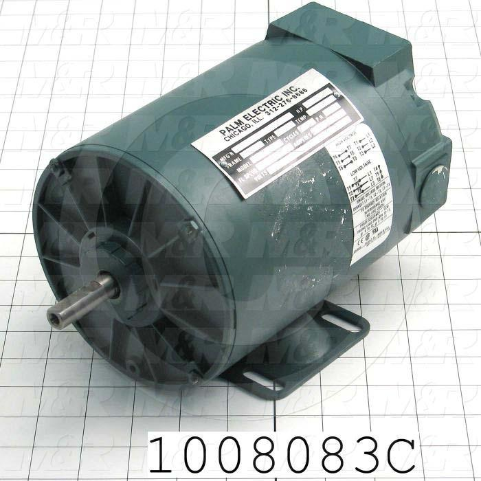AC Motor, 1/3HP, 2900 RPM, 190/380VAC, 3 Phase, 50Hz