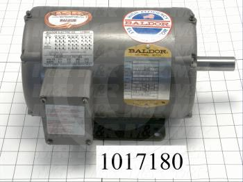 AC Motor, 1.5HP, 145TC Frame, 1750 RPM, 230/460VAC, 3 Phase, 60Hz