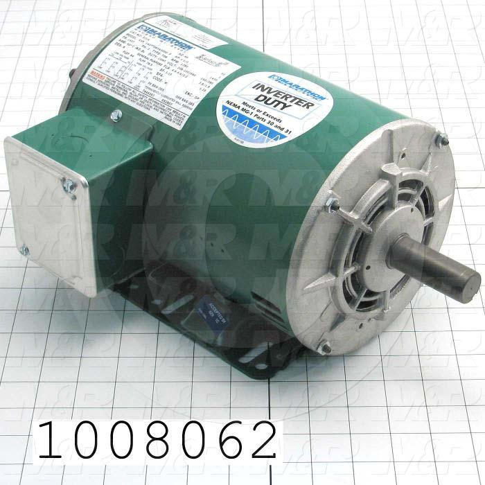 AC Motor, 1.5HP, 1725 RPM, 230/460VAC, 3 Phase
