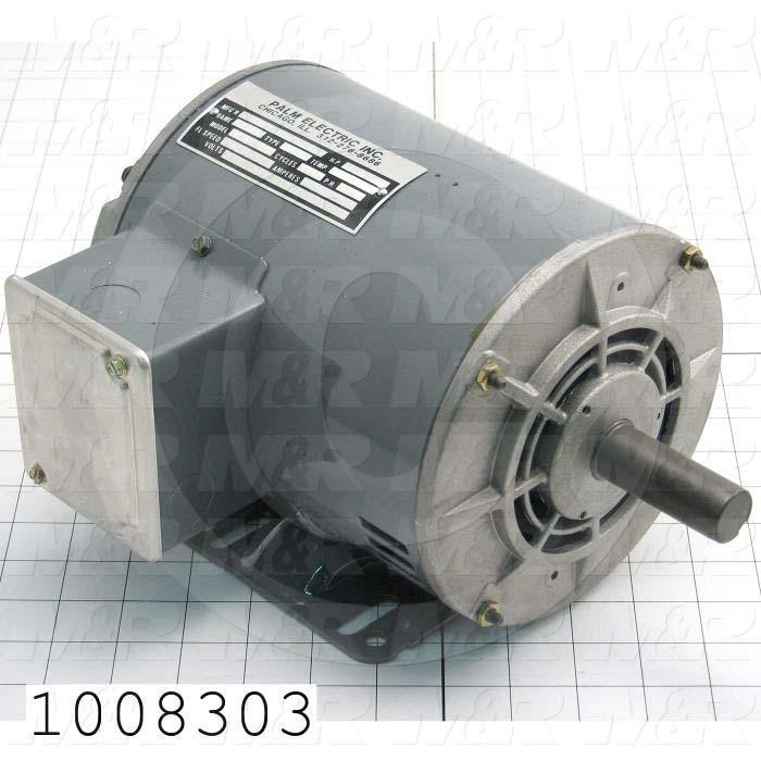 AC Motor, 1.5HP, 1725 RPM, 600VAC, 3 Phase, 60Hz