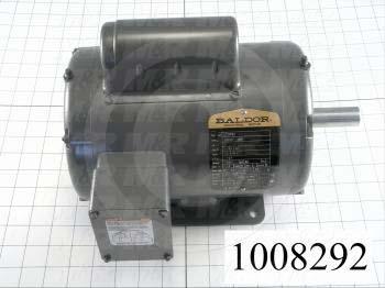 AC Motor, 1HP, 143T Frame, 1725 RPM, 115/208-230VAC, 1 Phase, 60Hz