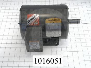 AC Motor, 1HP, 143T Frame, 1725 RPM, 208-230/460VAC, 3 Phase