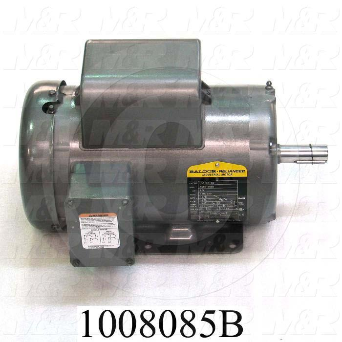 AC Motor, 1HP, 145T Frame, 1425 RPM, 115/208-230VAC, 50Hz