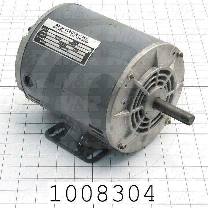 AC Motor, 1HP, 3450 RPM, 600VAC, 3 Phase, 60Hz