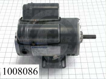 AC Motor, 1HP, 56 Frame, 3450 RPM, 115/208-230VAC, 60Hz