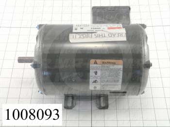 AC Motor, 1HP, 56 Frame, 3450 RPM, 208-230/460VAC, 3 Phase