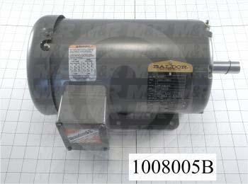 AC Motor, 2HP, 145T Frame, 208-230/460VAC, 3 Phase, 60Hz