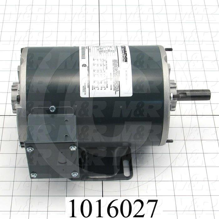 AC Motor, 3/4HP, 208/220/440VAC, 3 Phase, 50/60Hz