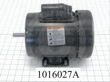 AC Motor, 3/4HP, 56 Frame, 1725 RPM, 115/230VAC, 1 Phase, 60Hz