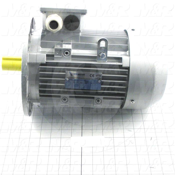 AC Motor, 3HP, 1410/1692 RPM, 230/400-277/480VAC, 3 Phase, 50/60Hz