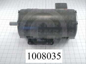 AC Motor, 3HP, 145T Frame, 1725 RPM, 208-230/460VAC, 3 Phase, 60Hz