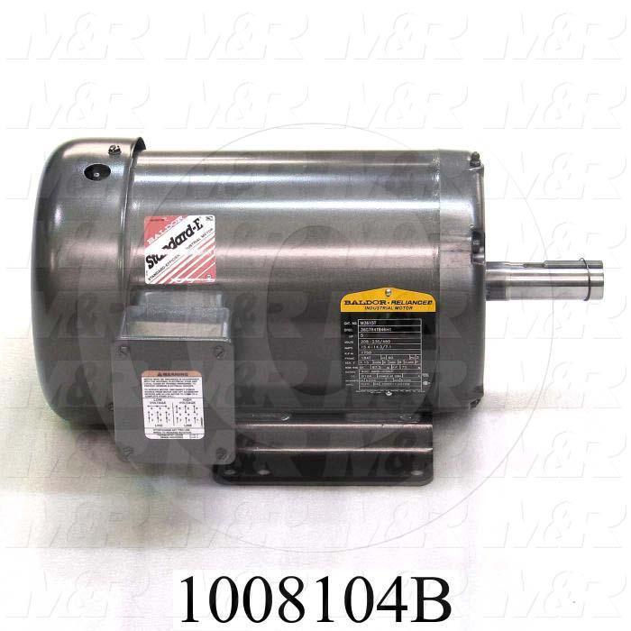 AC Motor, 5HP, 1700 RPM, 208-230/460VAC