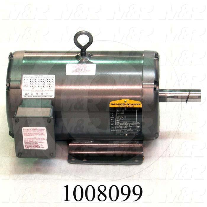AC Motor, 5HP, 184T Frame, 1425 RPM, 220/380/440VAC, 50Hz