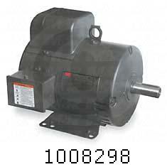 AC Motor, 5HP, 184T Frame, 1725 RPM, 230VAC, 1 Phase, 60Hz