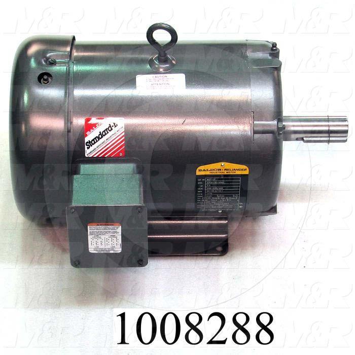 AC Motor, 7.5HP, 213T Frame, 1765 RPM, 208-230/460VAC, 3 Phase, 60Hz