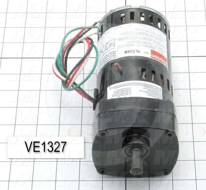 "AC Motor, Parallel Shaft, 100 Inch Pounds, 17 RPM, 230VAC, 1 Phase, 50/60Hz, 0.30, 1/2""X 1.00"" Shaft"