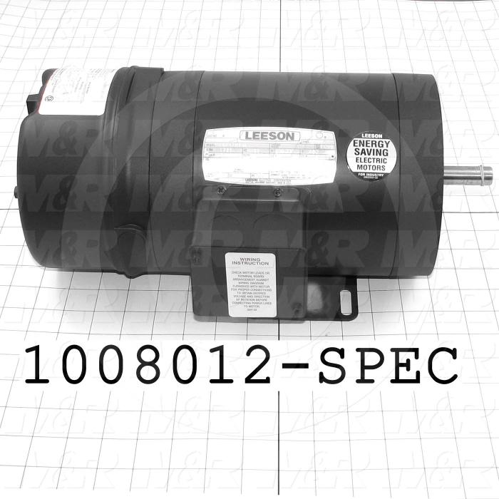 AC Motor, With Brake, 3/4HP, 208-230VAC, 3 Phase, 120/208V Brake Coil Voltage