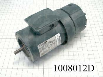 AC Motor, With Brake, 3/4HP, 56 Frame, 1800 RPM, 208-230/460VAC, 3 Phase, 60Hz