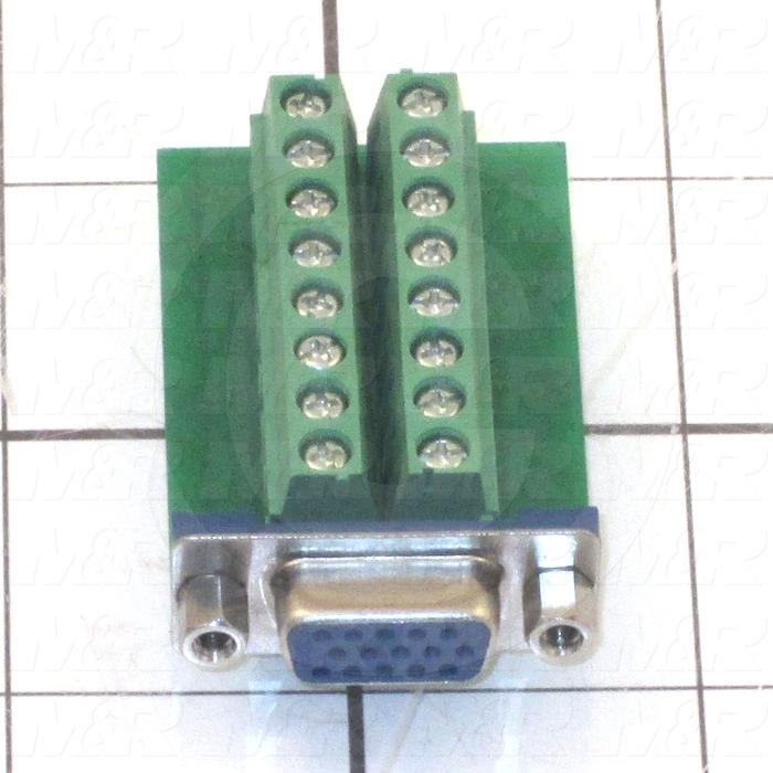 Adaptor Plate, Use For SVGA HD15 JACK FOR FIELD TERMINATION
