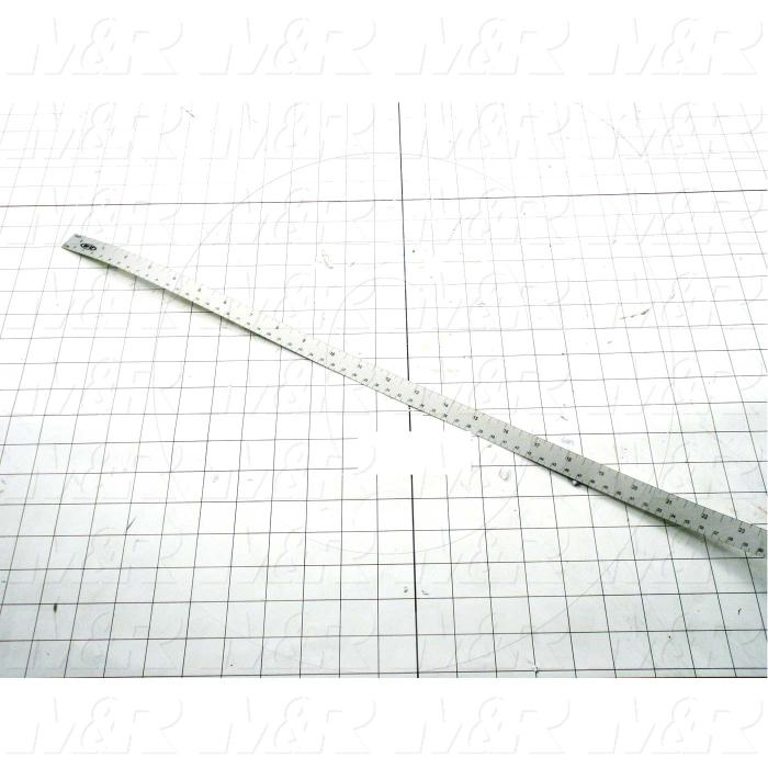 "Adhesives & Seals, Lexan Ruler, 1"" Width, 34"" Long Adhesive On Back, Black On Silver Color"