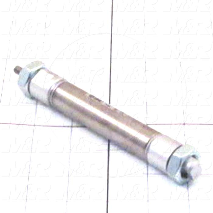"Air Cylinders, Double Rod Type, Standard NFPA, 1/4-28 UNF Rod Thread, Double Acting Model, 3/4"" Bore, 2"" Stroke, With Bumper Bumper"