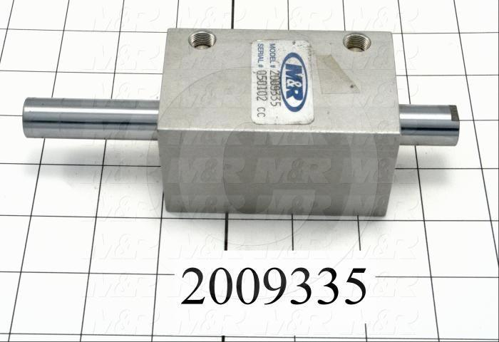 """Air Cylinders, Double Rod Type, Standard NFPA, 3/8-24 UNF Rod Thread, Double Acting Model, 1 5/8"""" Bore, 2"""" Stroke, Carriage Lift Function"""