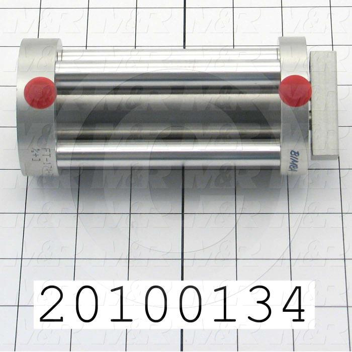 "Air Cylinders, Dual Rod Type, Standard NFPA, 1/4-20 UNC Rod Thread, Double Acting Model, 1 1/2"" Bore, 4"" Stroke"