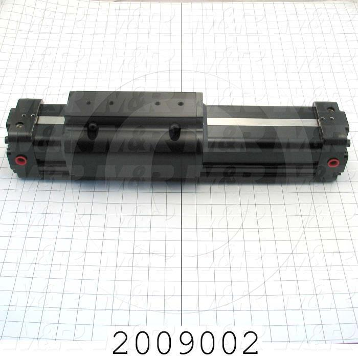 "Air Cylinders, Rod Less Type, Double Acting Model, 63 mm Bore, 6"" Stroke, Index Cylinder Function"