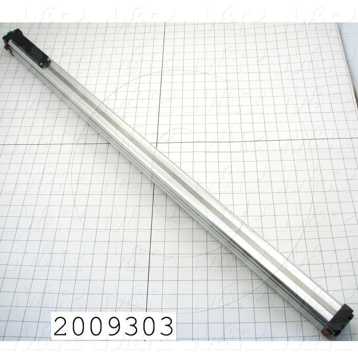 "Air Cylinders, Rod Less Type, Standard NFPA, Double Acting Model, 1"" Bore, 31"" Stroke"