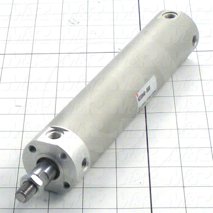 "Air Cylinders, Rod Type, 7/16-20 UNF Rod Thread, Double Acting Model, 1 1/2"" Bore, 6"" Stroke, Urethane Bumper"