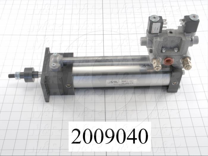"Air Cylinders, Rod Type, Double Acting Model, 2 1/2"" Bore, 8"" Stroke, Index Cylinder Function"