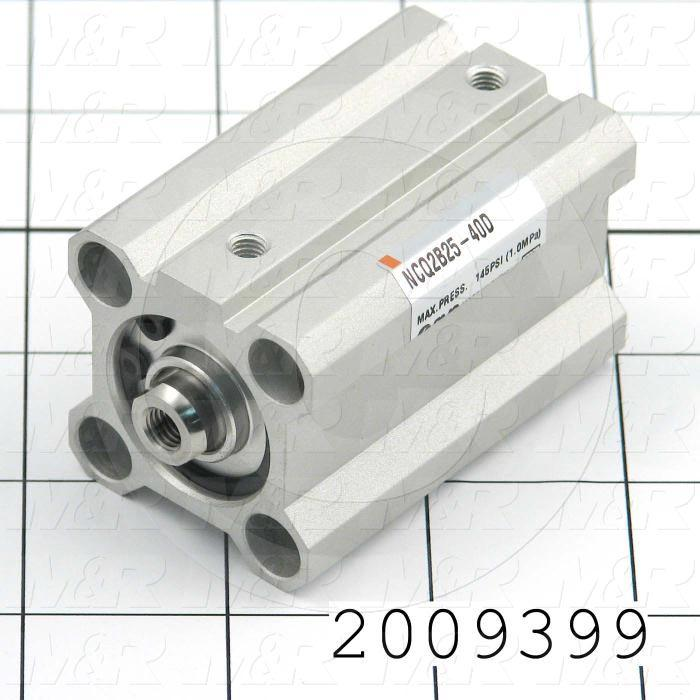 Air Cylinders, Rod Type, Standard ISO, Double Acting Model, 25 mm Bore, 40 mm Stroke