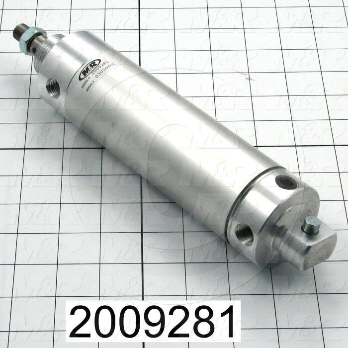 "Air Cylinders, Rod Type, Standard NFPA, 1/2-20 UNF Rod Thread, Double Acting Model, 1 3/4"" Bore, 4"" Stroke, Both Ends Cushion"