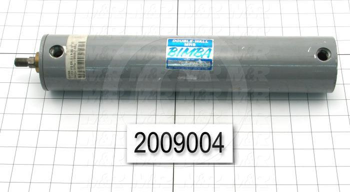 "Air Cylinders, Rod Type, Standard NFPA, 1/2-20 UNF Rod Thread, Double Acting Model, 2 1/2"" Bore, 10"" Stroke, Both Ends Cushion"