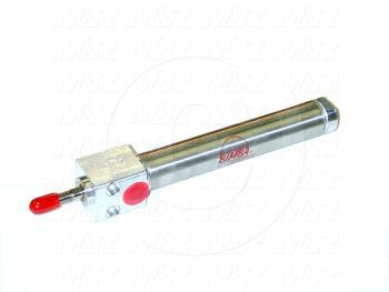 "Air Cylinders, Rod Type, Standard NFPA, 1/2-20 UNF Rod Thread, Double Acting Model, 3/4"" Bore, 3"" Stroke, Both Ends Cushion"