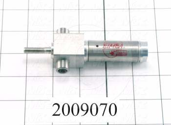 "Air Cylinders, Rod Type, Standard NFPA, 1/4-28 UNF Rod Thread, Single Acting Model, 3/4"" Bore, 1/2"" Stroke"