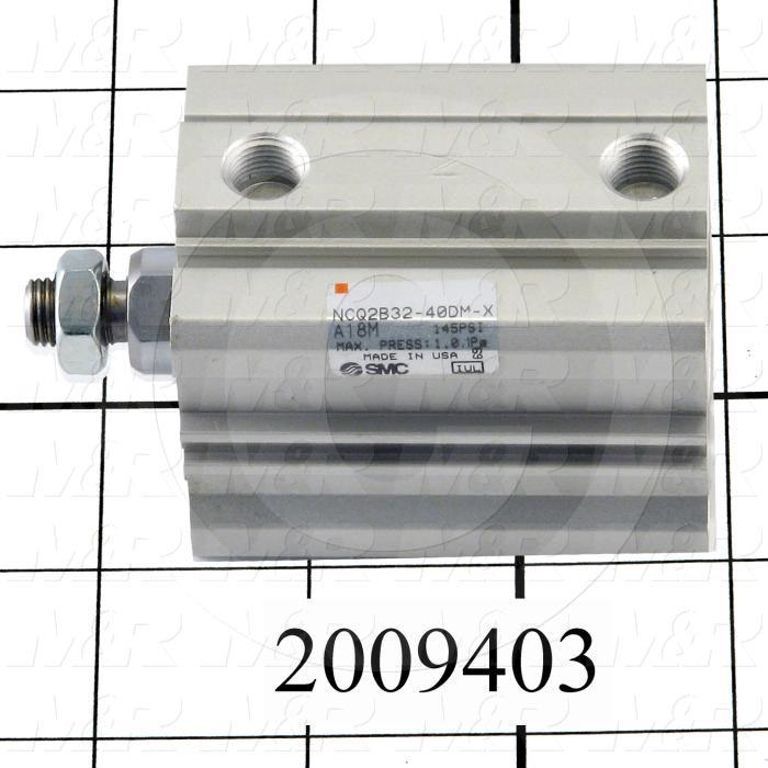Air Cylinders, Rod Type, Standard NFPA, 3/8-24 UNF Rod Thread, Double Acting Model, 32 mm Bore, 40 mm Stroke