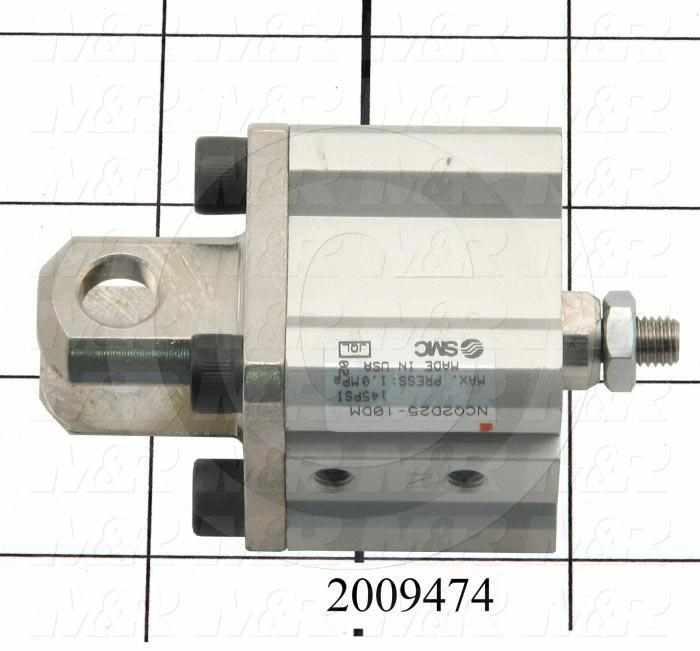 Air Cylinders, Square Rod Cylinder Type, M6 X 1.25 Rod Thread, Double Acting Model, 25 mm Bore, 10 mm Stroke