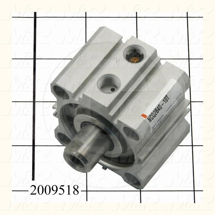 Air Cylinders, Square Rod Cylinder Type, M8 x 1.25 Rod Thread, Single Acting Model, 40 mm Bore, 10 mm Stroke